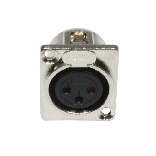 Cable Accu 3 pin conector XLR hembra Panel