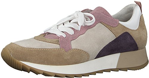 Tamaris 1-1-23776-30 Damen Schnürhalbschuhe, Sneaker, Schnürer, Halbschuhe für die modebewusste Frau braun (MUD Comb), EU 36