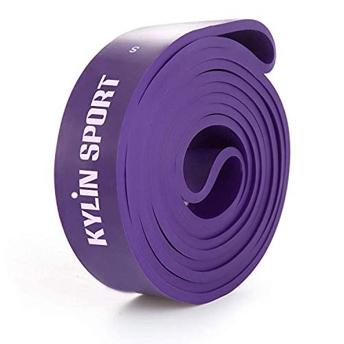 Yarrashop Set di fasce di resistenza per esercizi di resistenza, per esercizi di forza, esercizi di fitness, pilates, yoga, casa, allenamento, palestra, colore viola