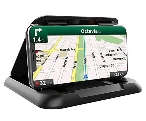 Soporte teléfono móvil para coche, edición prémium, robusto, antideslizante, duradero, apto para todos los teléfonos de vehículos, GPS, compatible con iPhone, Samsung, Huawei, negro