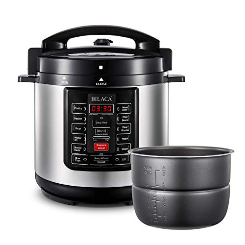 Electric Pressure Cooker BILACA Quart 9-in-One Multi Programmable Pressure Cooker