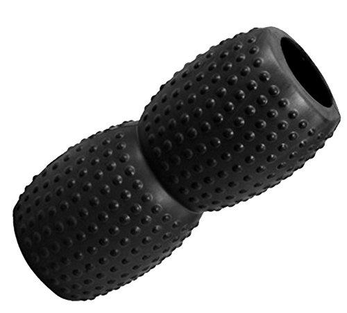 Myyogawheels arachidi roller–morbido ma Firm mini della gamba collo massaggiatore, Black