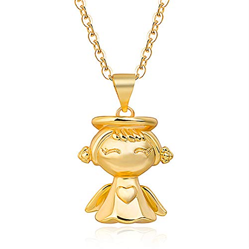 24K Gold Plated Vietnam, Star Shaped Pendant for Clavicle with Angel Star Pendant for Baby
