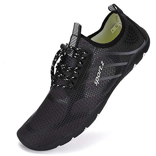 Zapatos de agua para mujer y hombre, Aqua Beach Swim Shoes de secado rápido, zapatos descalzos para piscina, navegación, surf, buceo, yoga, color, talla 47 EU