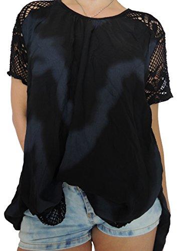 Ca 10 Damen Blusen Shirts Größe 46 48 50 52 54 (Schwarz)