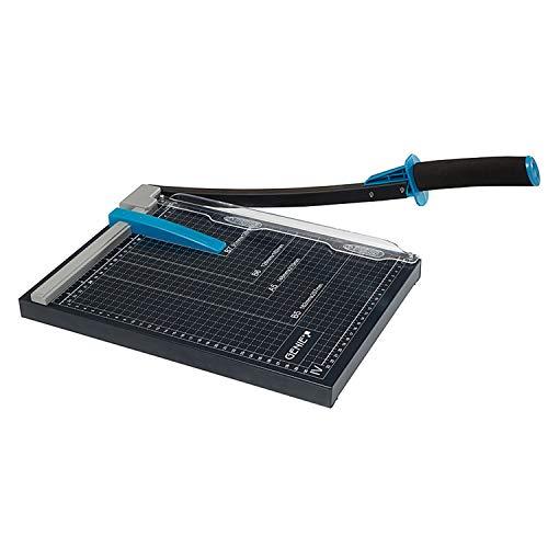 Genie GM A4di carta–Taglierina a Leva (adatto per formati fino a DIN A4, 12fogli di Carta, per materiali come, foto, cartoncino ecc, superficie di lavoro in metallo di alta qualità) Nero/Blu
