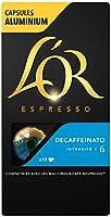 L'Or Espresso Café - 100 Capsules Decaffeinato Intensité 6 - compatibles Nespresso®* (lot de 10 x 10)