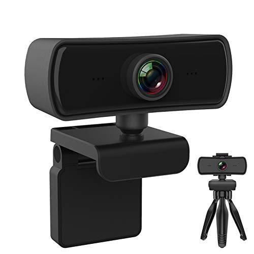 P&U Webcam con microfono, hd Webcam per pc 1080P Webcam Autofocus fino a 2K Fotocamera per PC, laptop, MAC, Plug and Play USB Streaming Webcam per YouTube, Skype Video Calling, Studio, Conferenza