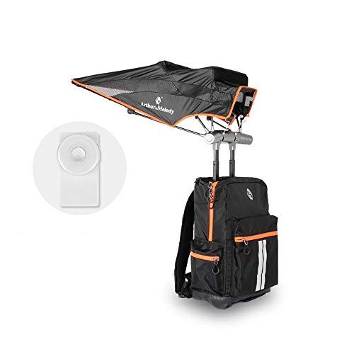 HYRL Mochila Inteligente con Paraguas, Protector Solar protección UV de Gran Capacidad Paraguas y Altavoz Bluetooth para Viajes Ligeros de Viaje de una Sola sombrilla,B