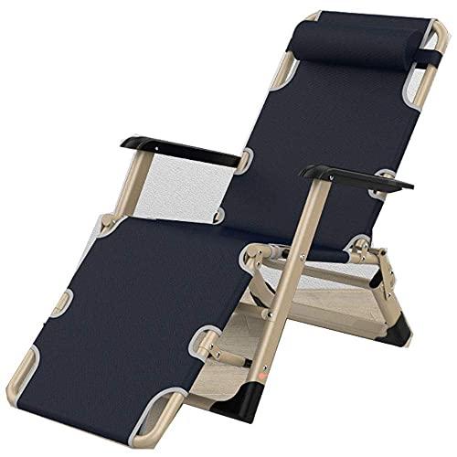 WGFGXQ Zero Gravity Sun Loungers,Zero Gravity Sun Loungers, Adjustable Garden Chairs, Reclining Folding Sun Lounger Chair, Outdoor Camping Bed Portable Lightweight Armchair-4