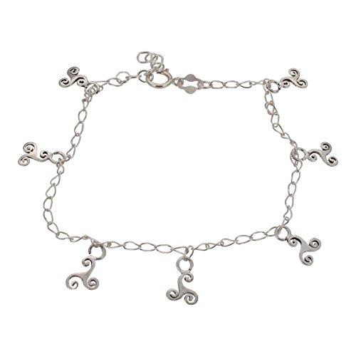 Sterling Silber Triskele Keltisches Design Feine Armband