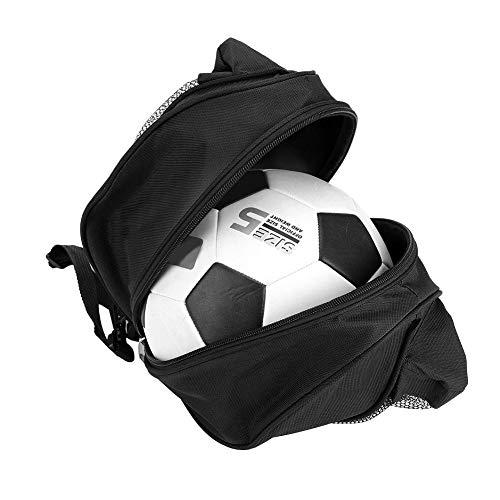 Alomejor Pelota Deportiva con Mochila portátil Bolsa de Hombro Individual para Baloncesto Fútbol Voleibol Gran Capacidad de Espacio de Almacenamiento(Black)