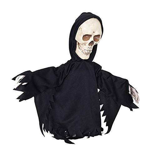 QLQGY Halloween-decoratie, speelgoed met elektrische beweging, gehunted house Escape Home KTV bar Decor Horror House Walking Skull Ghost Reaper Evil