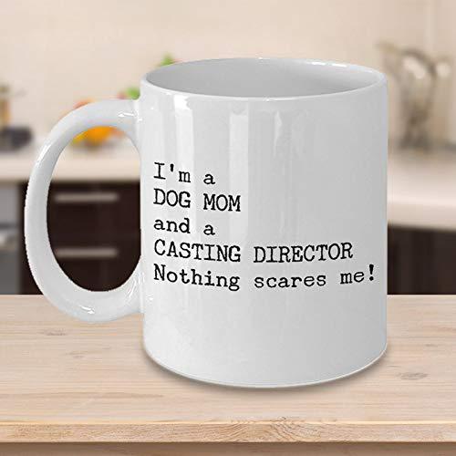 Taza de café con diseño de director de casting divertido, regalo de Navidad, regalo para los amantes de la película, ideal para director de cine, actores de perro, mamá