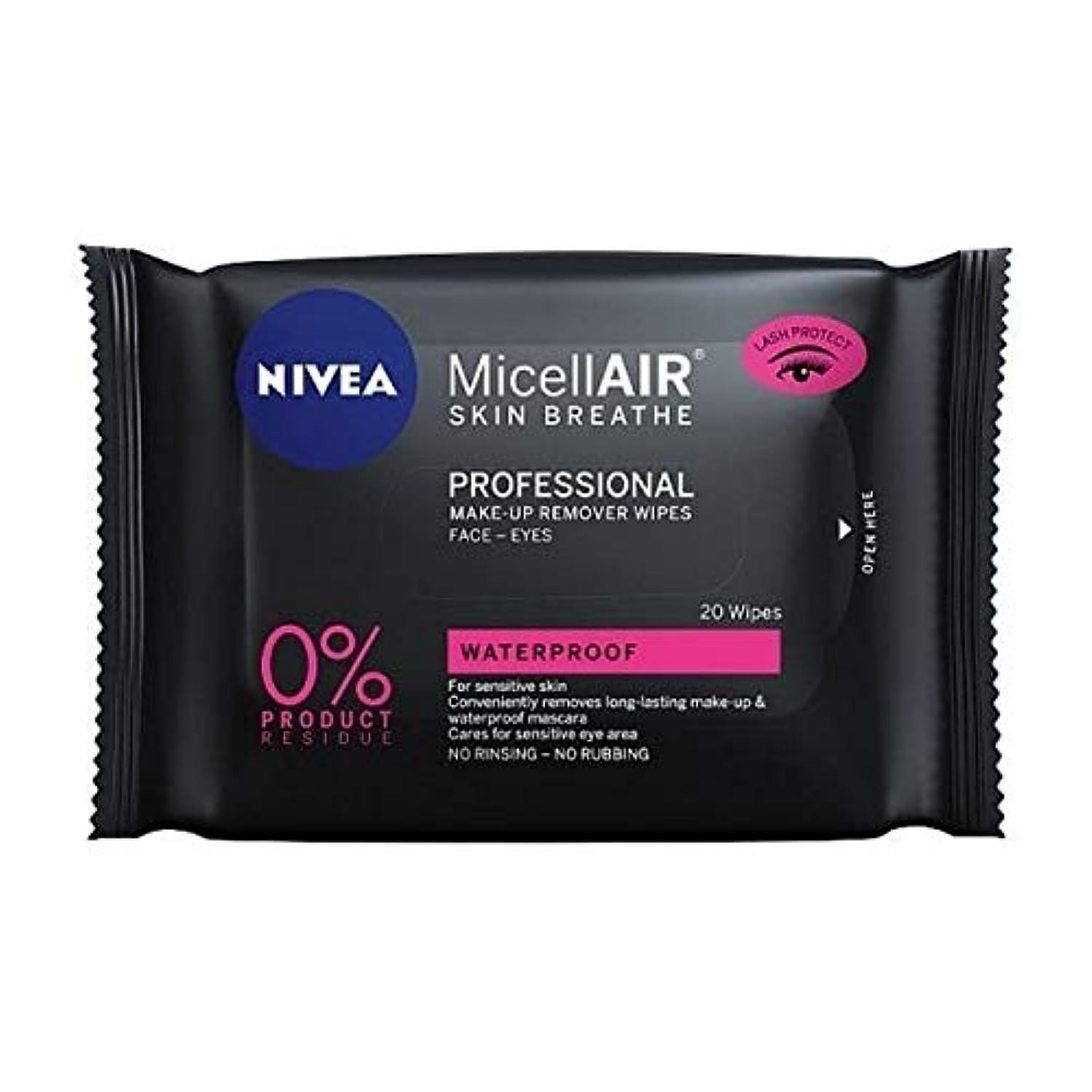 派生する起きているオンス[Nivea ] ニベアMicellairプロミセルメイクアップは、20代をワイプ - NIVEA MicellAir Professional Micellar Make-Up Wipes 20s [並行輸入品]