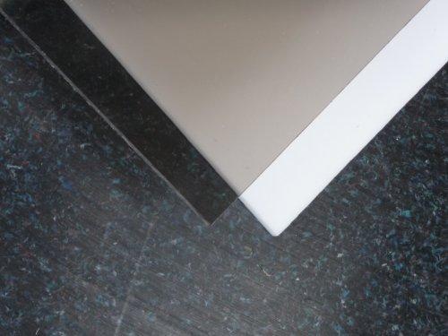 Massieve polycarbonaat plaat, 1000 x 600 x 3 mm plaat brons/bruin 50% lichttransmissie
