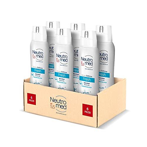 NEUTROMED, Deodorante Spray Dermo Defense 5 Fresh, Confezione da 6 x 150 ml