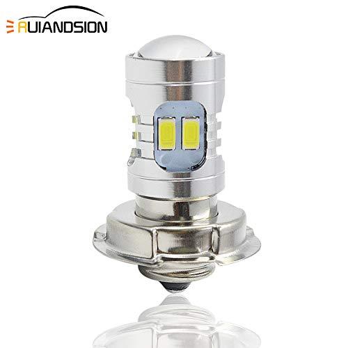 Ruiandsion 1 pz P26S Lampadina LED DC 6V 12V Super Bright 5730 12SMD Chipsets 6000K Bianco con proiettore Lampadina LED per faro moto