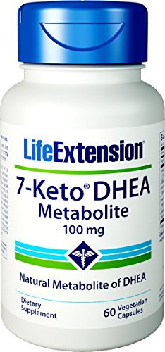 Life Extension 7-Keto DHEA Has Been Studied to Help Promote Healthy Body Weight When Coupled with Proper Diet & Exercise - Non-GMO, Gluten-Free - 60 Vegetarian Capsules
