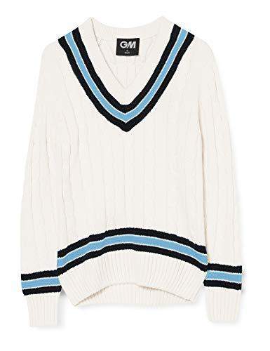 GUNN & MOORE Cricket Pullover, Navy/Sky, L