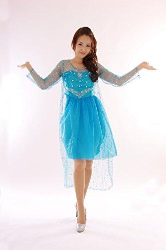 『クイーンアント(queenant) アナと雪の女王 Frozen エルサ Elsa ドレス コスプレ 本格 衣装 ミニ丈 ショート丈』の5枚目の画像
