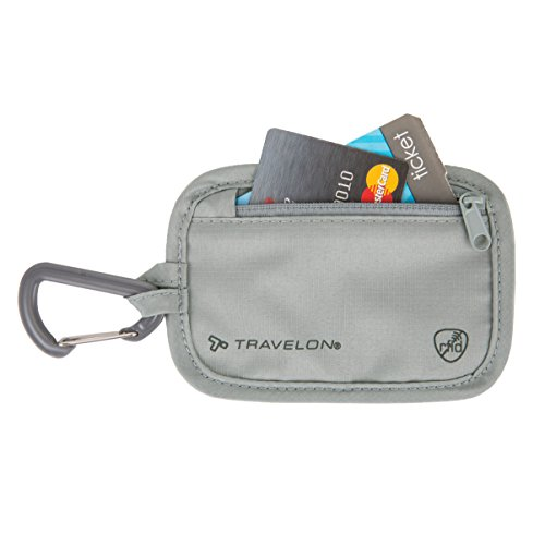 Travelon Rfid Blocking Clip Stash Pouch, Gray