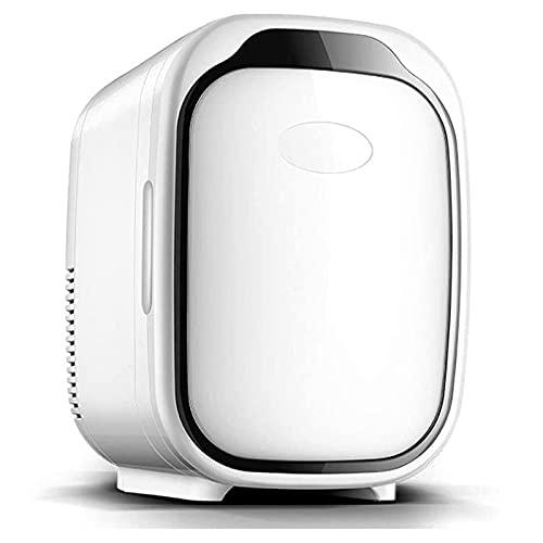 Mini Coche Frigorífico 6 litros Refrigerador portátil 2 en 1 Función de refrigeración y calefacción Fridge, 12V / 220V para bebidas, cosméticos, farmacéuticos Pequeño congelador, Negro Jialele