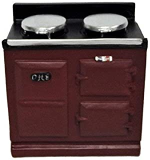 Melody Jane Dollhouse 2 Oven Red Aga Stove Cooker Miniature Kitchen Furniture
