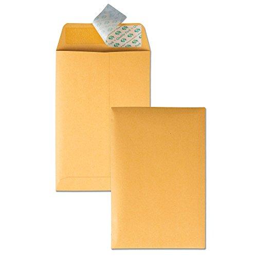 Quality Park 6 x 9 Self Sealing Brown Kraft Catalog Envelopes, 28 lb, for Mailing, Storage and Organizing, 100 per Box (44162)