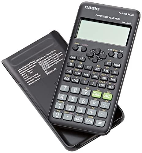 Casio FX-82ES PLUS-2 Calcolatrice scientifica, 252 funzioni, 11 x 77 x 162 mm, colore: nero
