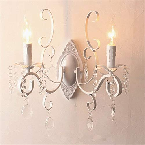 RAQ wit zwart wandlamp dubbele koppen kaars wandlampen klassieke vintage wandlamp kleur 3