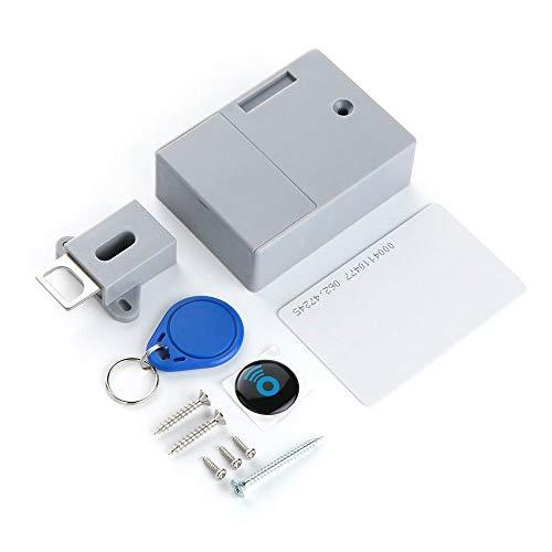 Minasan RFID Möbelschloss ABS Material Universal Intelligent Elektrisch Induktion Türschloss Ohne Loch Batterie Betrieben Versteckt RFID Schrank Schubladen Schloss Lock mit Schlüssel