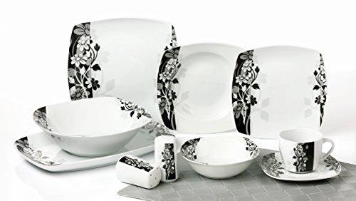 Topkapi Alani TK-984 - Juego completo de vajilla de porcelana para 6...