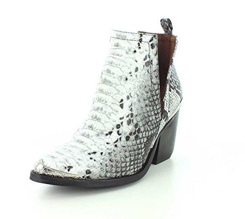 Jeffrey Campbell Womens Cromwell Black/White Snake Boot - 9.5