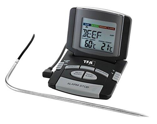 TFA Dostmann Digitales Bratenthermometer, Kontrolle der Kerntemperatur, Fleischthermometer, Haushaltsthermometer, perfekt gebratenes Fleisch/Geflügel