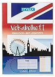 Stylex 40006 - Cuaderno de vocabulario (en inglés, DIN A5, 32 hojas, 1 unidad), multicolor