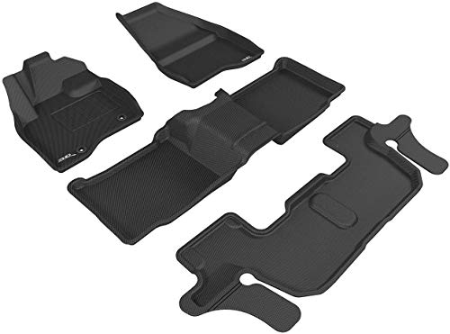 3D MAXpider L1FR09101509 All-Weather Floor Mats for Ford Explorer (2nd Row Bench...