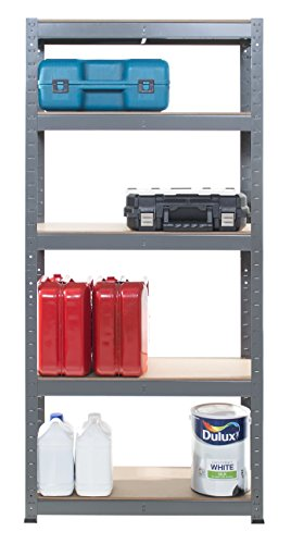 5 Tier Boltless Shelving Unit - 150High, 70Wide, 30Deep cm 175 UDL