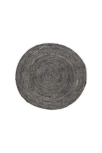 House Doctor Teppich Struktur, schwarz, 100 x 100 cm