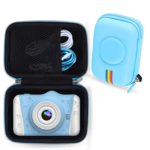 Kids Digital Camera Case Compatible with WOWGO Many Brands Kids Camera Case for Waterproof Camera for Kids and Kids Action Camera Accessories Case Only (Blue)