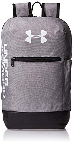 Under Armour Patterson Backpack Mochila, Unisex, (Steel Medium Heather/Black/White (035), Taglia Unica