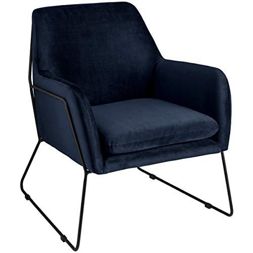 VEGA 30046715 Sessel Jedeo, 71x80x84 cm (BxTxH), Sitz dunkelblau, Gestell schwarz, 1 Stück