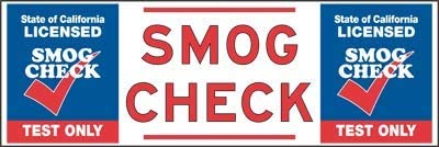 """Direct stock discount Max 62% OFF The Sign Studio- 2' x 6' – Check Smog Bann """"California Banners"""