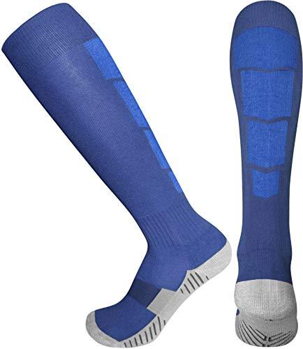 Elite Athletic Socks - Over The Calf - Navy Blue / Blue (Large, Navy Blue/Blue)