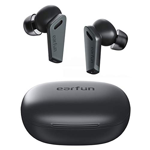 EarFun Air Pro ハイブリッド式ノイズキャンセリング ワイヤレスイヤホン 重低音 10mm大口径ドライバー 外...