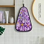 Hanging Godfery Gabriel Summer Flower Flax Flowers Hand Bath Towel Hanging Tie Towels Quick Dry Cotton Kitchen Dish Cleaning Towels Cloth for Kitchen Bathroom Mudroom Laundry Room