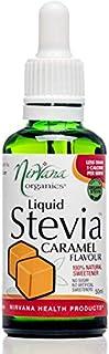 Nirvana Organics Liquid Stevia Caramel Flavour Sweetener 50 ml