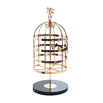 Jewelry Display Stand Jewelry Display Organizer Rack - Large Capacity Organizer Stand for Jewelry Rotatable Birdcage Design Earrings Ear Studs Display Holder Necklaces Hanging Bracket Accessories Dis