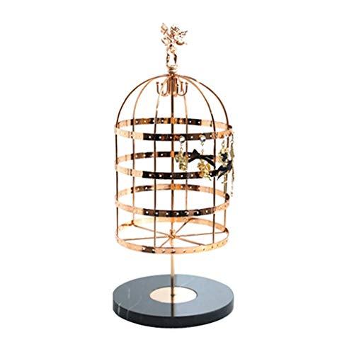 Estante de la joyería Exhibición de la joyería organizador del estante - de gran capacidad Organizador soporte for la joyería, pendientes Diseño giratorio Birdcage zarcillos Collares sostenedor de la