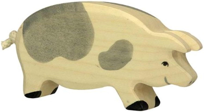 Holztiger Pig Spotted Toy Figure